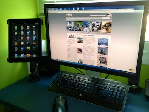 Buzz Article: Desk mounting an iPad