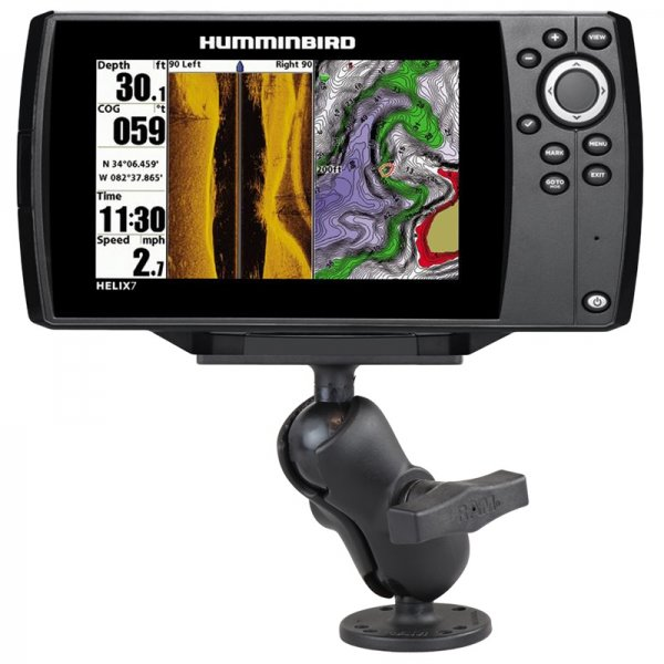 ram mount humminbird screw down short marine mount for humminbird helix 7 only. Black Bedroom Furniture Sets. Home Design Ideas