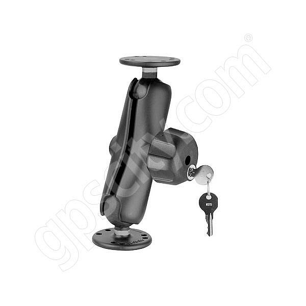 RAM Mount Dual Round Plate Lock Mount with 1.5 inch Ball