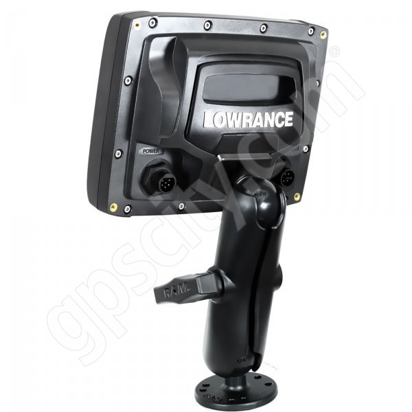 RAM Mount Lowrance Elite-5 and Mark-5 Series Adapter on Flat Surface Mount