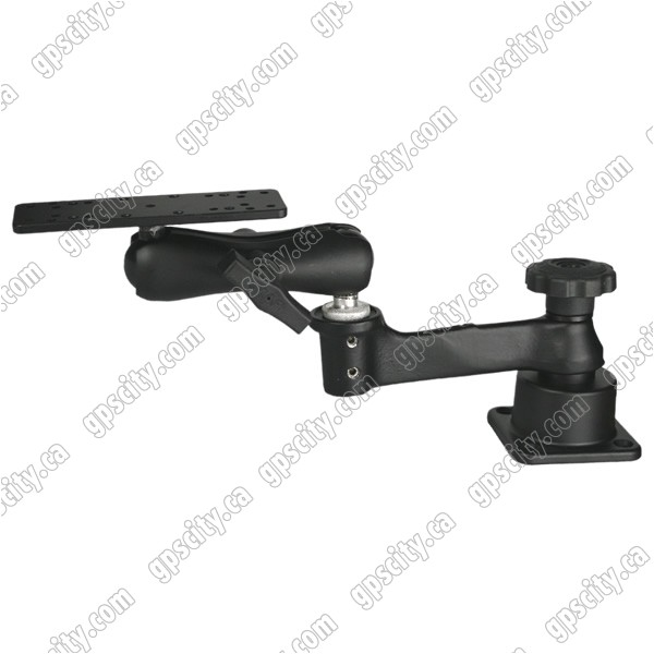 RAM Mount Horizontal Straight Swing and Ball Arm with Plate