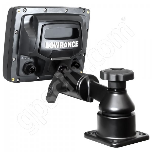 RAM Mount Horizontal Straight Swing Arm Lowrance Elite-5 and Mark-5 Marine Mount