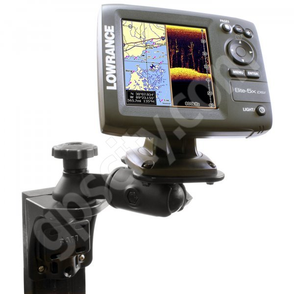 RAM Mount Vertical Straight Swing Arm Lowrance and Humminbird Marine Mount