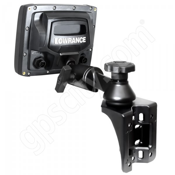 RAM Mount Vertical Straight Swing Arm Lowrance Elite-5 and Mark-5 Marine Mount