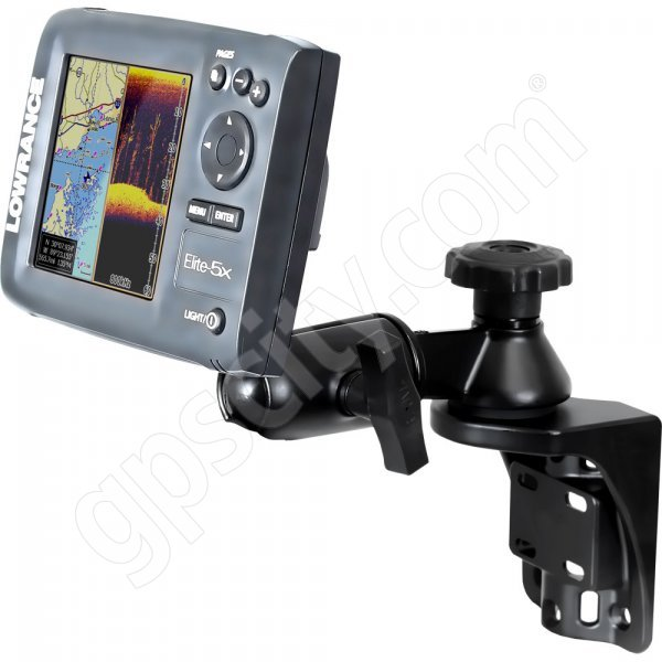 RAM Mount Vertical Straight Swing Arm Lowrance Elite-5 and Mark-5 Marine Mount Additional Photo #1