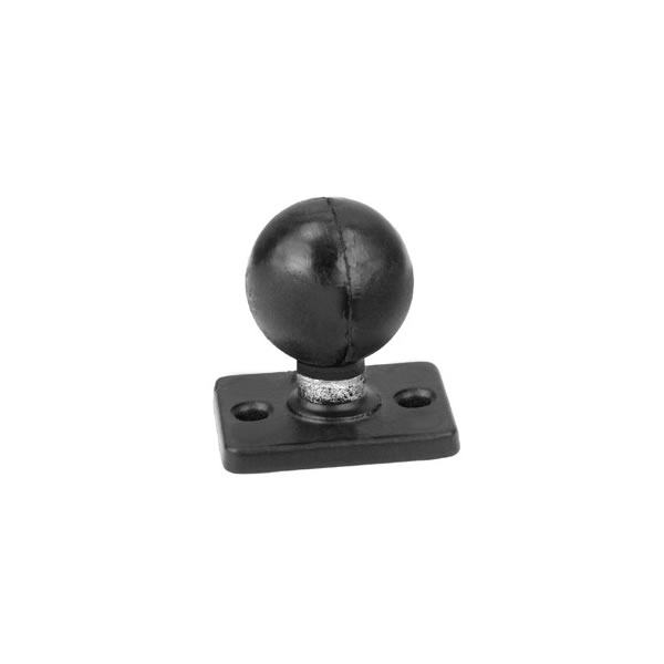RAM Mount Rectangular 1 x 2 inch Plate with 1.5 inch Ball