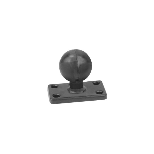 RAM Mount Rectangular 1.5 x 2 inch Plate with 1.5 inch Ball