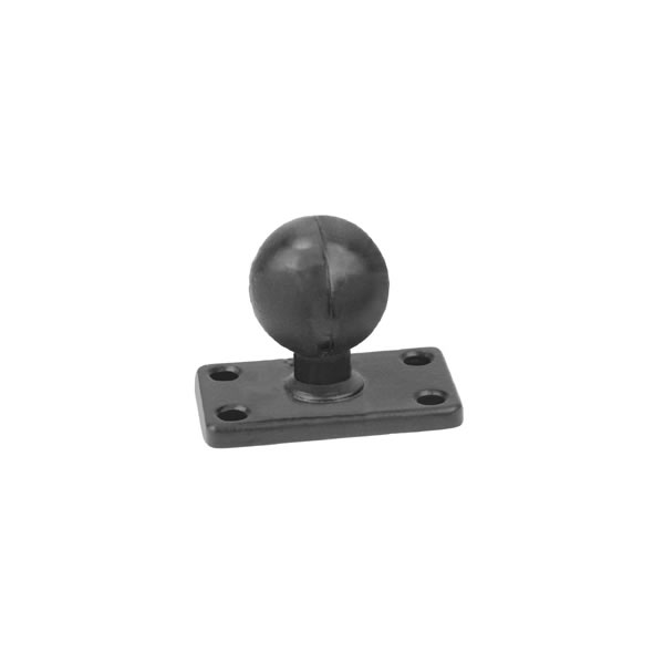 RAM Mount Rectangular 1.5 x 2.5 inch Plate with 1.5 inch Ball