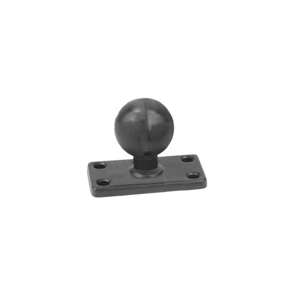 RAM Mount Rectangular 1.5 x 3 inch Plate with 1.5 inch Ball
