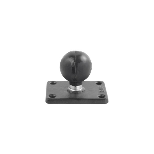 RAM Mount Rectangular 2 x 2.5 inch Plate with 1.5 inch Ball