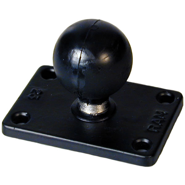 RAM Mount Rectangular 2 x 3 inch Plate with 1.5 inch Ball