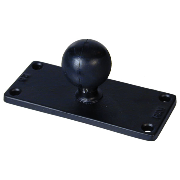 RAM Mount Rectangular 2 x 5 inch Plate with 1.5 inch Ball