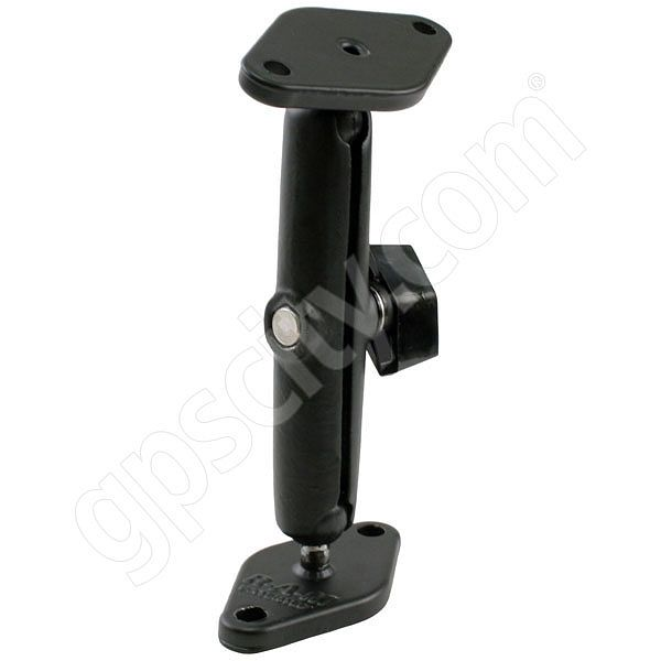 RAM Mount Aluminum Dual Plate Long Arm Mount 0.56 inch Ball
