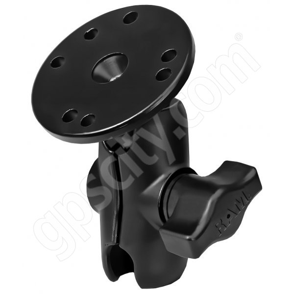 RAM Mount Open Socket Arm System with Round Base and Short Arm