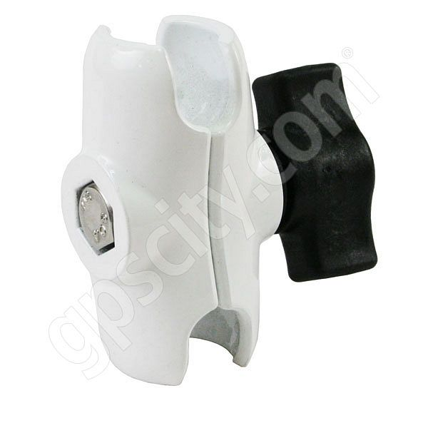 RAM Mount White Short Length Dual 1.0 inch Socket Arm