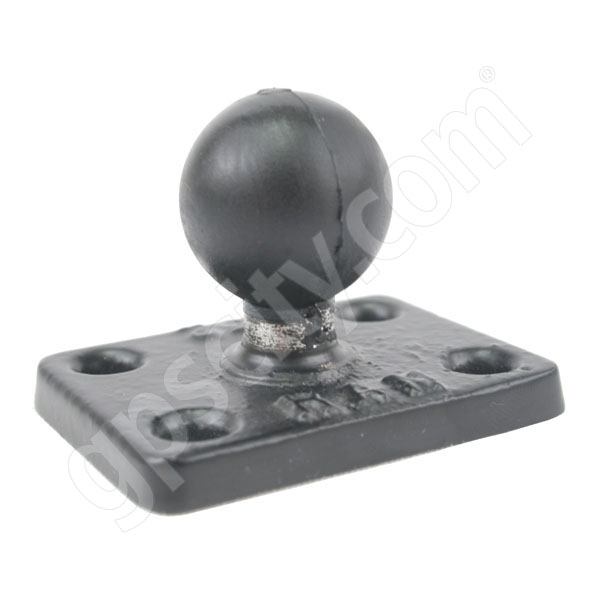 RAM Mount Rectangular 1.5 x 2 inch Plate on 1 inch Ball