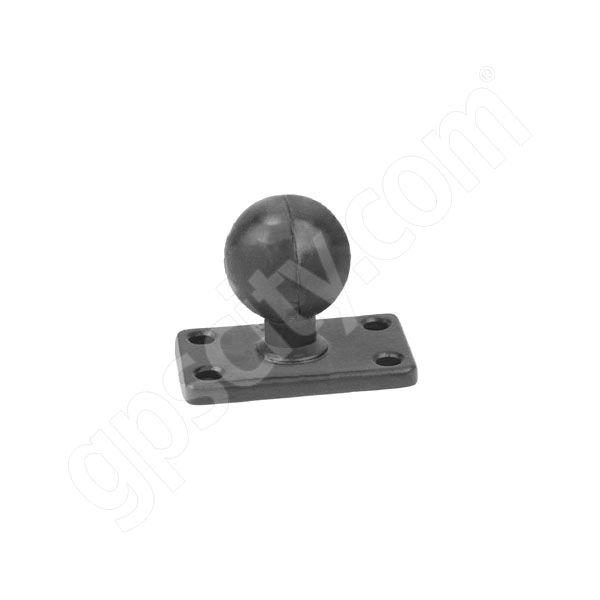 RAM Mount Rectangular 1.5 x 2.5 inch Plate on 1 inch Ball
