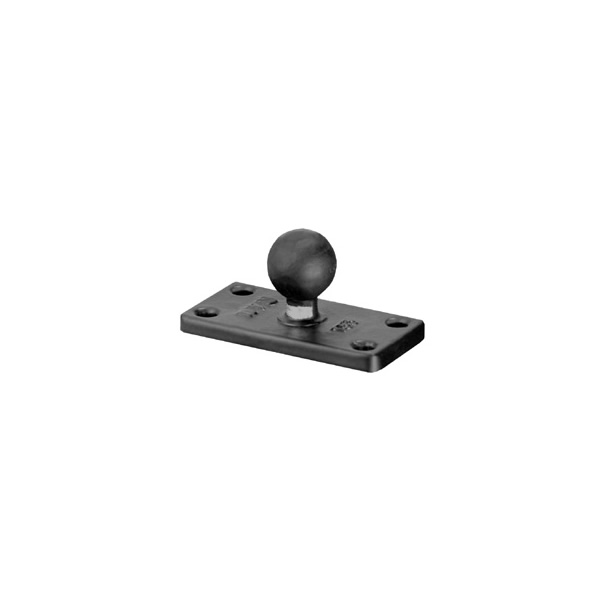 RAM Mount Rectangular 1.5 x 3 inch Plate on 1 inch Ball