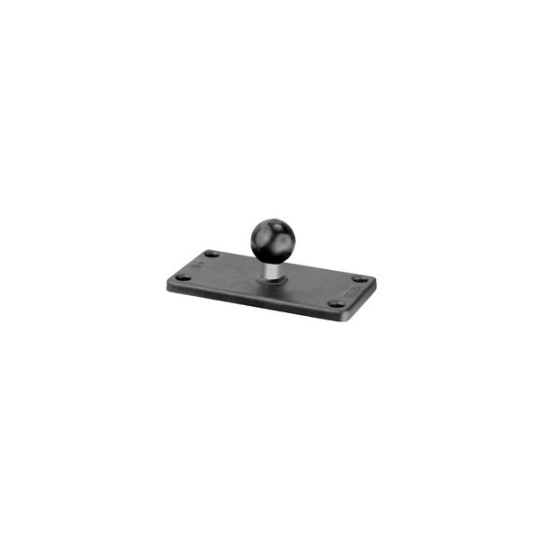 RAM Mount Rectangular 2 x 4 inch Plate on 1 inch Ball