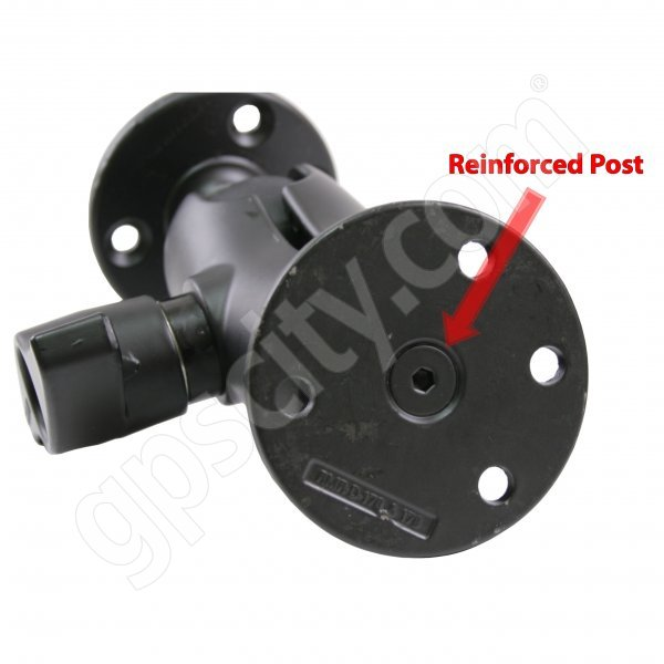 RAM Mount Dual Round Plate Short Arm Mount Reinforced Post Additional Photo #1