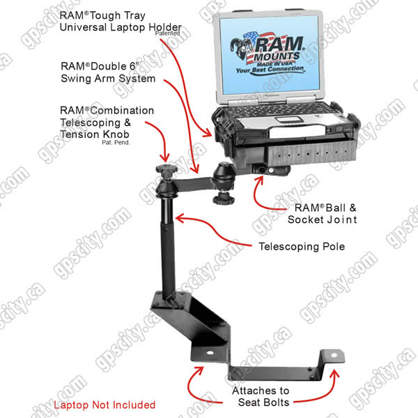 RAM Mount Chevrolet GMC Vehicle Laptop Mount RAM-VB-102-SW1
