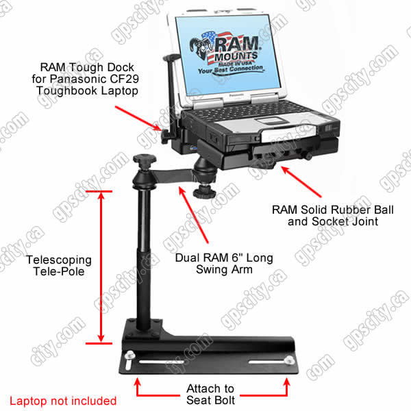 RAM Mount Chevrolet Ford Toughbook Vehicle Mount RAM-VB-106-PAN1P