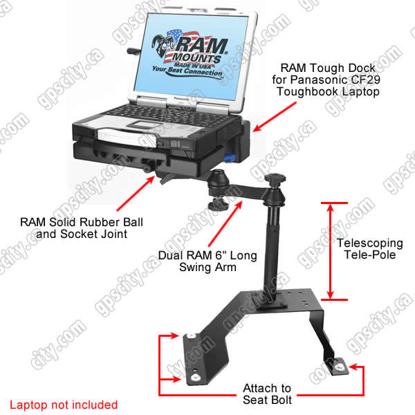 RAM Mount Chevrolet Ford Toughbook Vehicle Mount RAM-VB-107-PAN1P