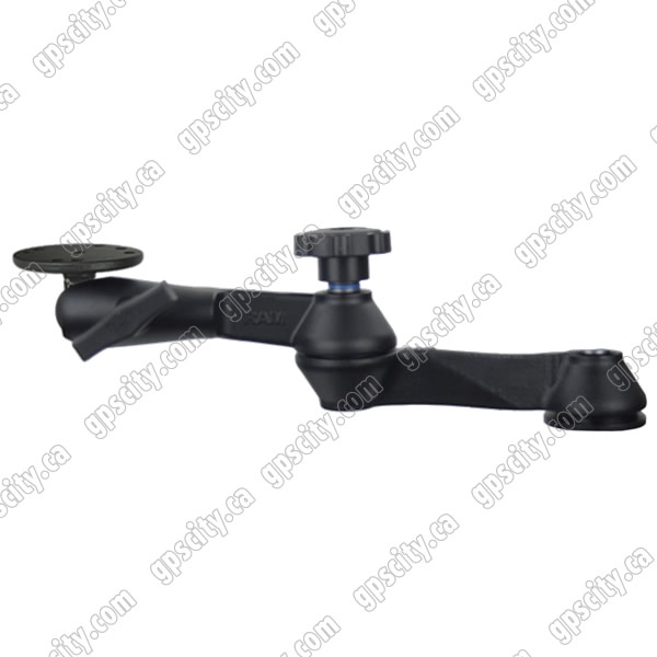 RAM Mount Double Swing Arm with 1.5 inch Ball Socket Plate
