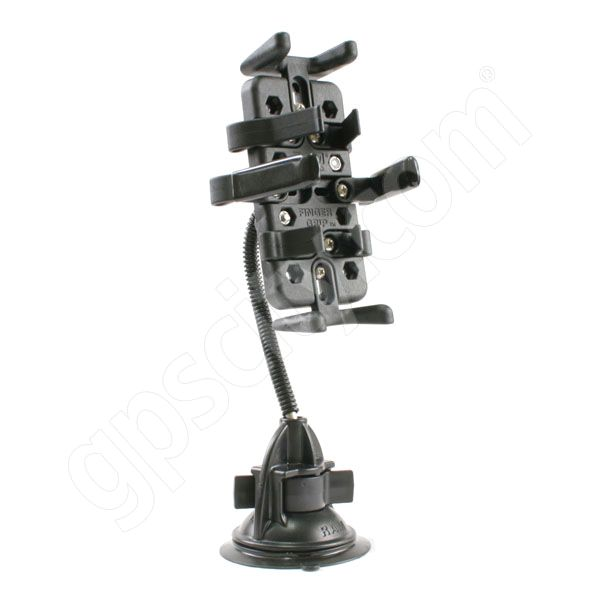 RAM Mount Universal Finger Grip Cradle on Flex Suction Mount