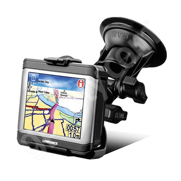RAM Mount Lowrance XOG Series Pivot Suction Cup Mount