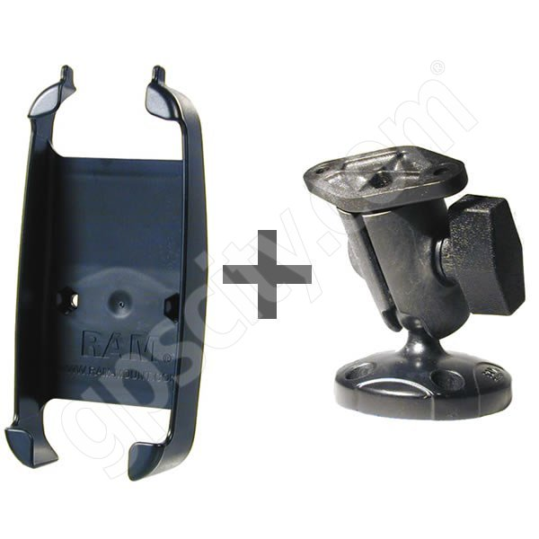 RAM Mount iFinder H2O Flat Base with Short Button Arm Additional Photo #1