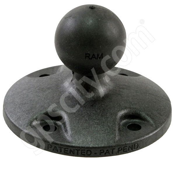 RAM Mount Plastic Round Base with 1 inch Ball