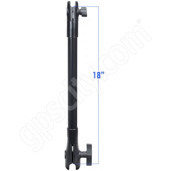 RAM Mount Plastic 18 inch Extension Pole with 1 inch and 1.5 inch Socket
