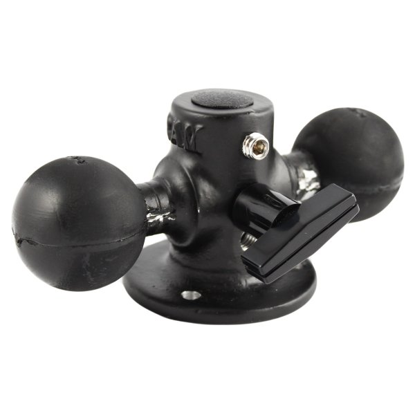 RAM Mount Round Plate with Double 1.5 inch Ball