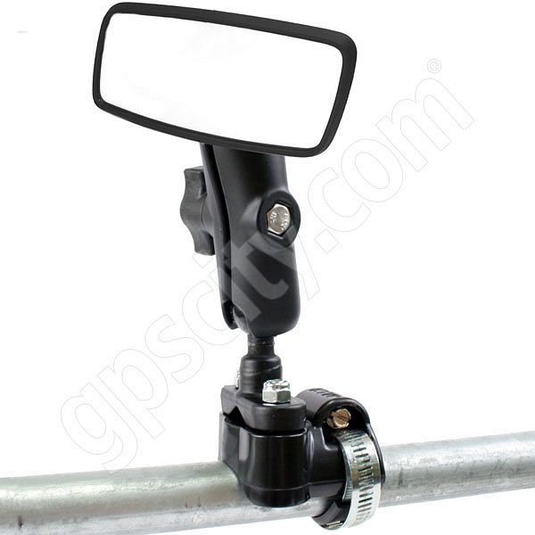 RAM Mount Rearview Mirror on ATV UTV Strap Mount