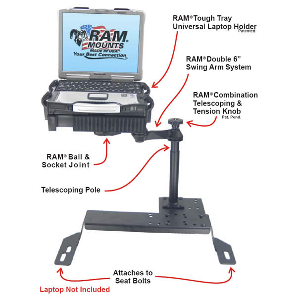 RAM Mount Dodge Vehicle Laptop Mount RAM-VB-127-SW1