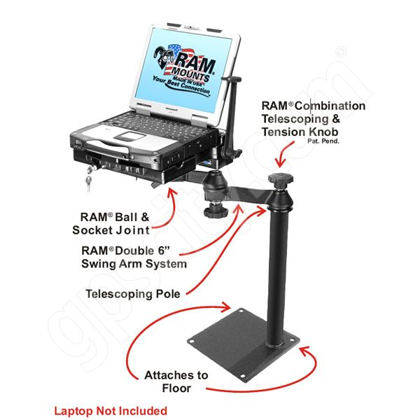 RAM Mount Universal Dual Arm CF29 Laptop Vehicle Mount