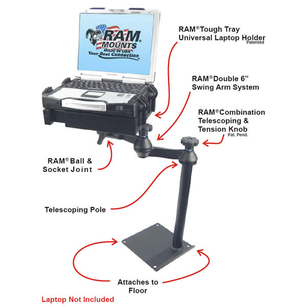 RAM Mount Universal Laptop Vehicle Mount RAM-VBD-125-SW1