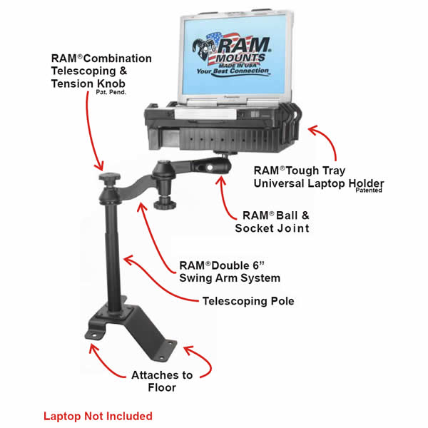 RAM Mount Ford Vehicle Laptop Mount RAM-VBD-126-SW1