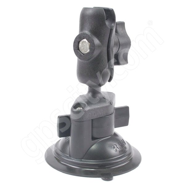 RAM Mount Open 1 inch Socket Short Arm Locking Suction Cup Mount