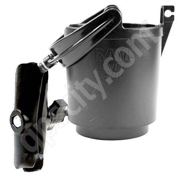 RAM Mount Plastic Self Leveling Cup Holder with Arm
