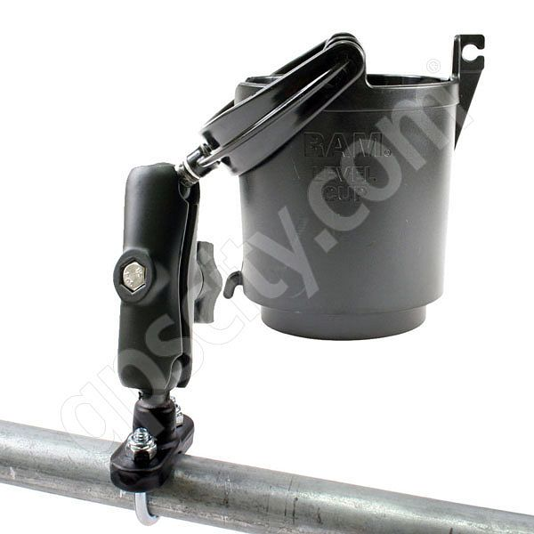 RAM Mount Self Leveling Cup Holder No Foam U-Bolt Mount