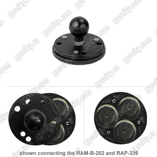 RAM Mount Plastic Magnetic Adapter Base with 1inch Ball