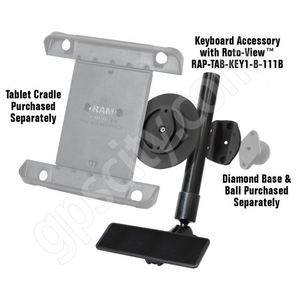 RAM Mount Universal Tablet Roto-View Keyboard Mount RAP-TAB-KEY1-B-111B Additional Photo #1