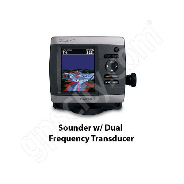 GPSMAP 431s Sounder Marine GPS with Dual Beam Transducer on