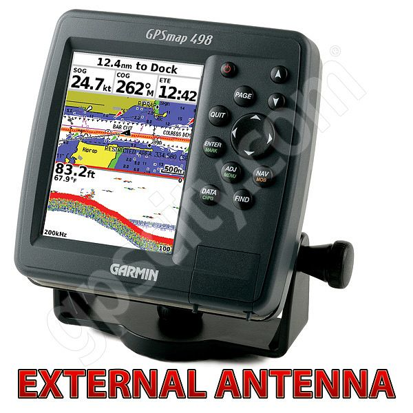 Garmin GPSMAP 498 Sounder with External Antenna