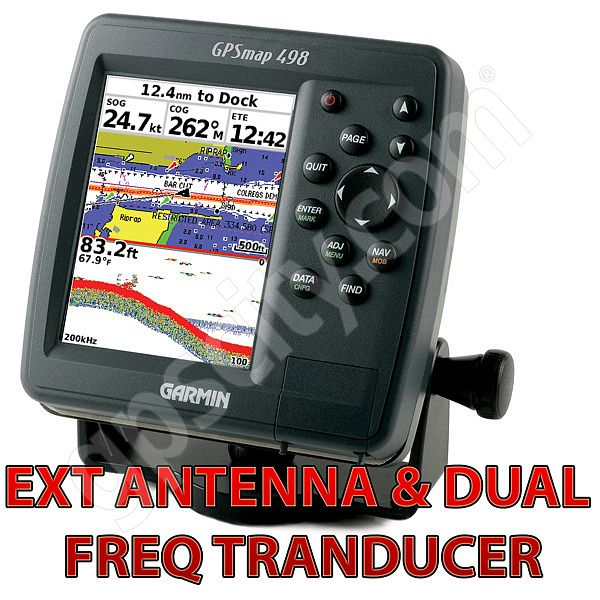 Garmin GPSMAP 498 Ext Antenna Sounder with Transducer