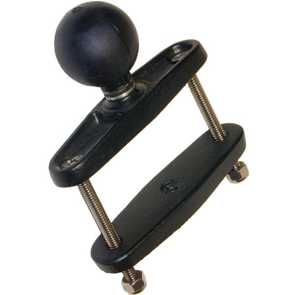 RAM Mount Square 2.5 inch Rail Clamp Base with 1.5 inch Ball