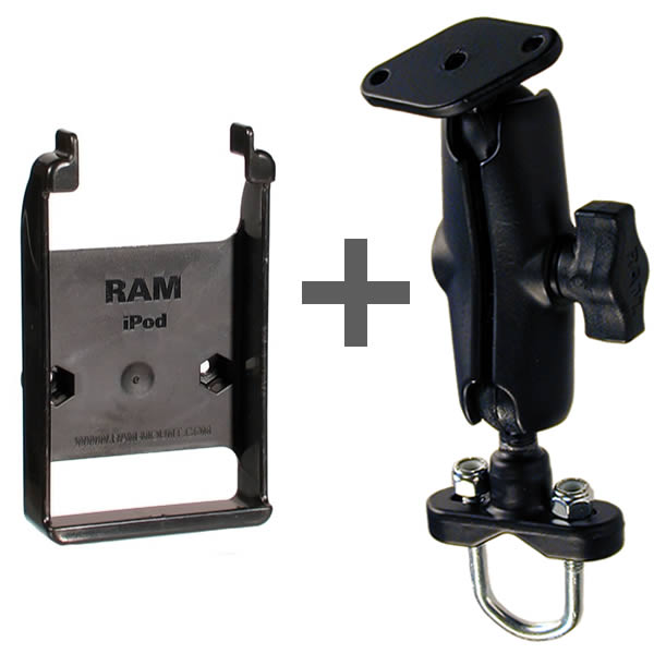 RAM Mount iPod classic Motorcycle Mount RAM-B-149Z-AP1U Additional Photo #1