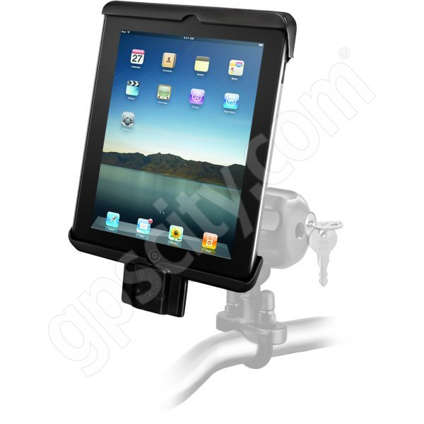 RAM Mount Universal iPad Tab-Lock Uni-Conn Locking Motorcycle and Rail Mount